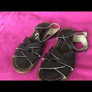 brown salt water sandals